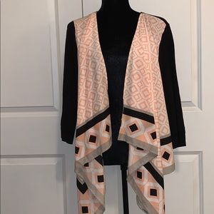NY&CO cardigan in black, pink,white-good condition